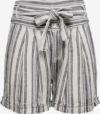ONLY Shorts 'Alfina' in graphit / offwhite: Frontalansicht