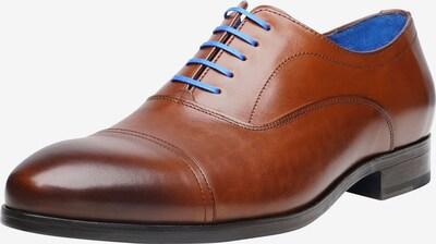 SHOEPASSION Businessschuhe durchgenäht 'No. 5617 BL' in blau / braun, Produktansicht
