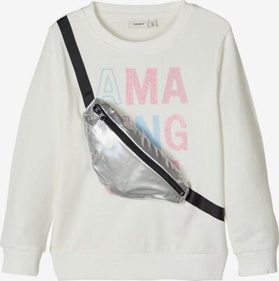NAME IT Sweatshirt in rosé / silber / weiß, Produktansicht