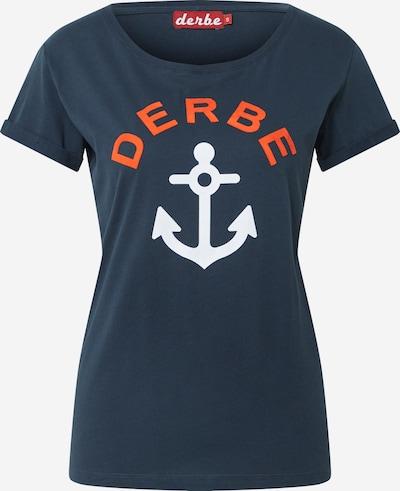 Derbe Tričko 'Tallymann' - námornícka modrá / tmavooranžová / šedobiela, Produkt