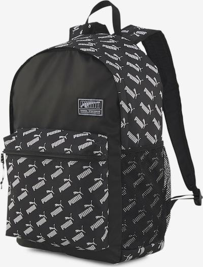 PUMA Rucksack 'Academy' in schwarz / weiß, Produktansicht