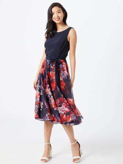 Vera Mont Kleid in dunkelblau / mischfarben / orangerot, Modelansicht