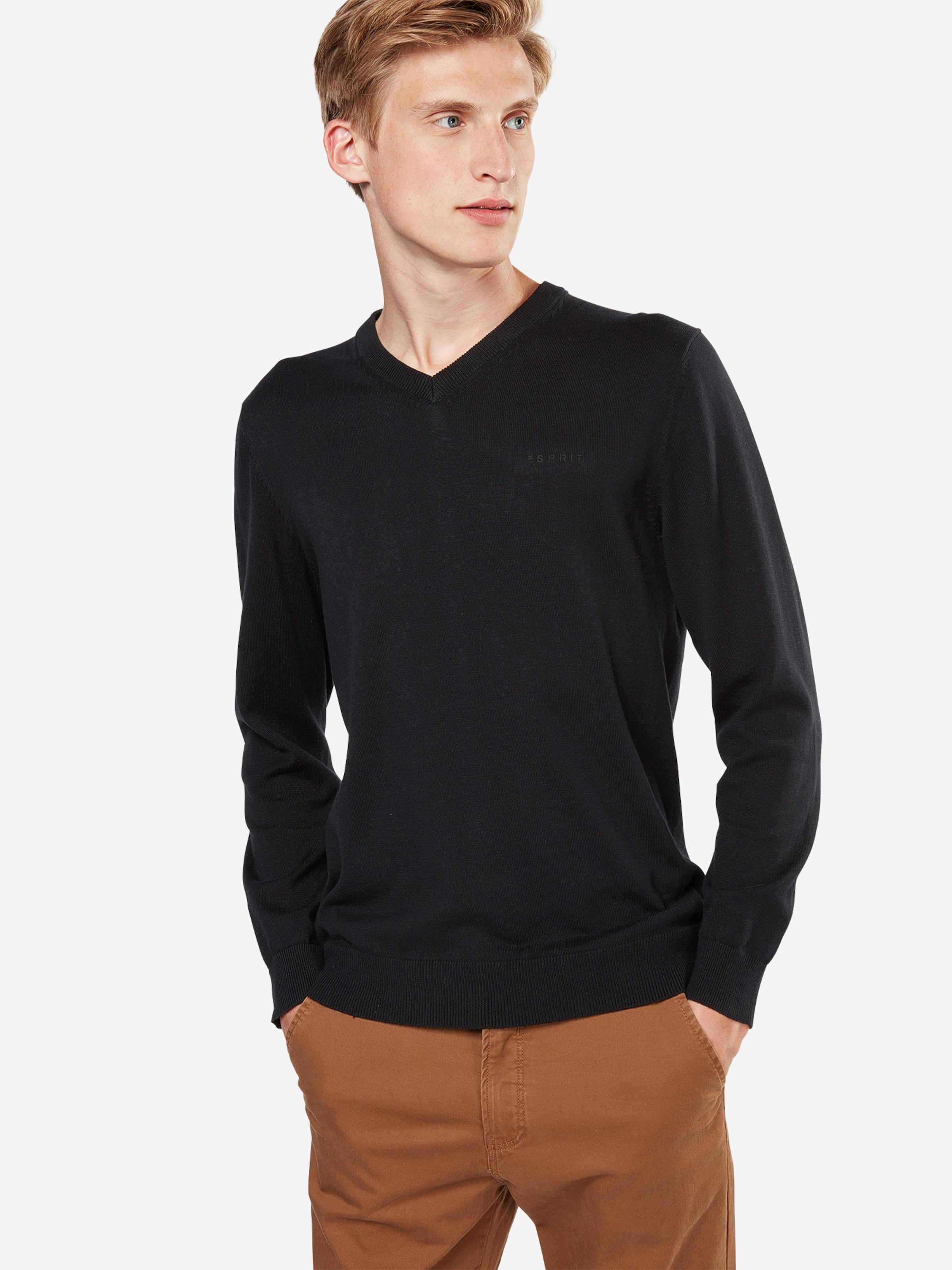 ESPRIT Pullover 'Basic CO V-nk'  Verkaufsschlager 9JHLJljExX