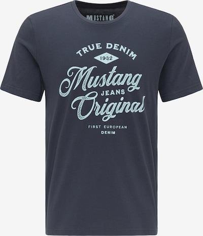 MUSTANG T-Shirt ' Alex C Print ' in blau, Produktansicht