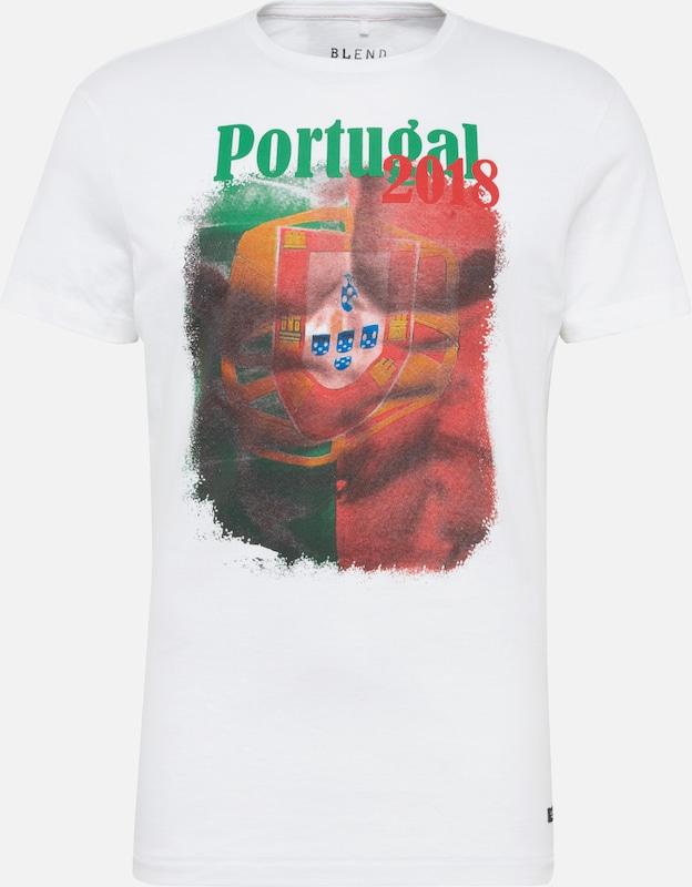 Blend Vert Blanc En ClairRouge shirt T 8kXnw0PO