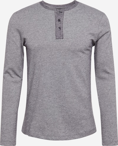 TOM TAILOR DENIM Shirt 'Henley' in grau / hellgrau, Produktansicht