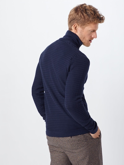 !Solid Knit Cardigan 'Shad' in Dark blue: Rear view