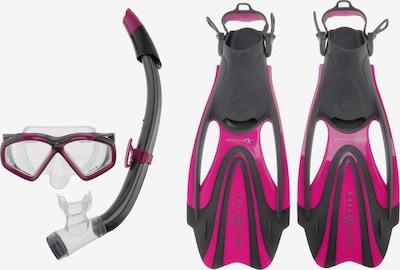 Aqua Lung Sport Schnorchelset 'Hawkeye' in anthrazit / cyclam: Frontalansicht