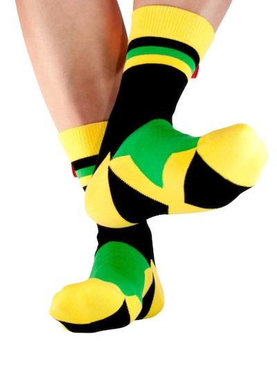 Tag SOCKS Socken in gelb / grün / schwarz, Modelansicht
