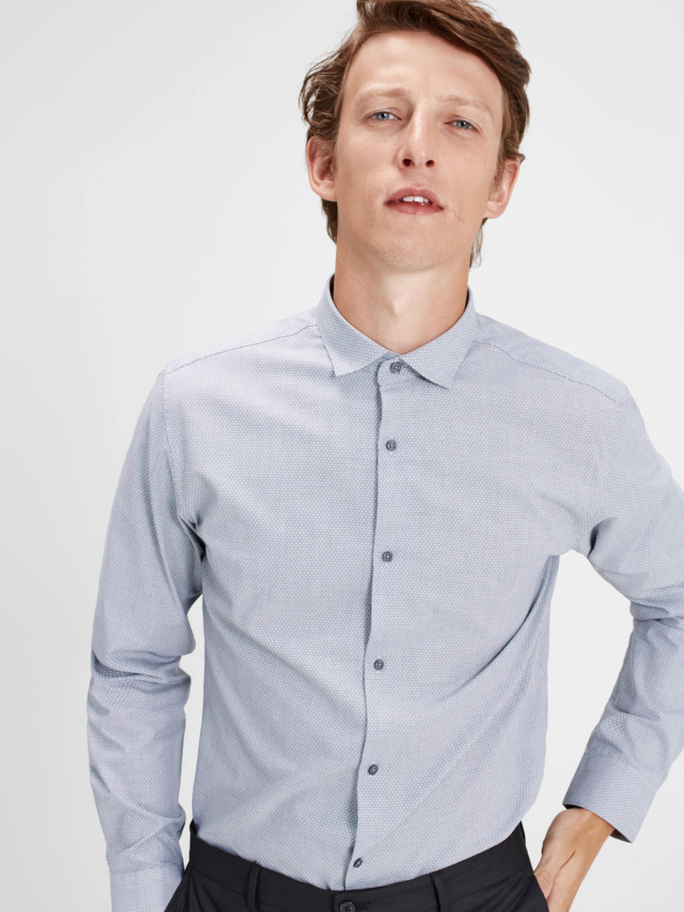 JACK & JONES Kentkragen-Langarmhemd Verkauf 2018 BCa0yaQ0wL