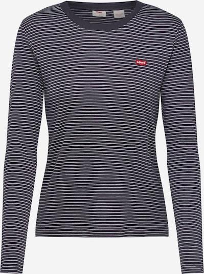 LEVI'S Shirt 'LS BABY TEE' in de kleur Donkergrijs / Wit, Productweergave