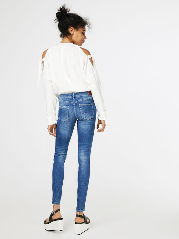 En Pepe Jeans Bleu Denim 'pixie' Jean kXZuPOi