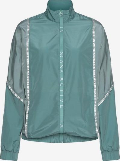 LASCANA ACTIVE Sportjacke in grau / grün, Produktansicht