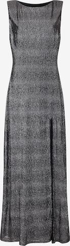Mela London Večerné šaty 'SIDE SLIT SHIMMER MAXI DRESS' - Čierna