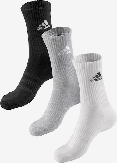 ADIDAS PERFORMANCE Sports socks in light grey / black / white, Item view