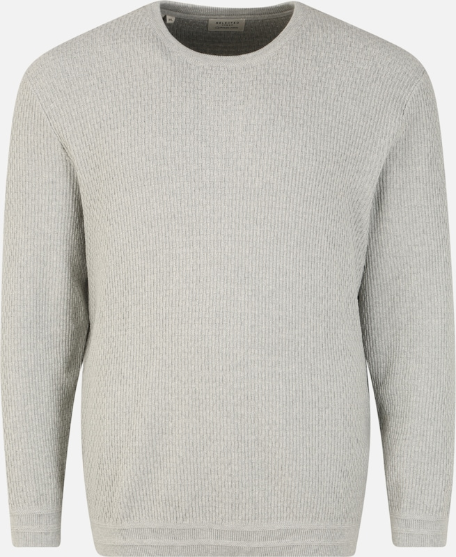 SELECTED HOMME Pullover in graumeliert, Produktansicht