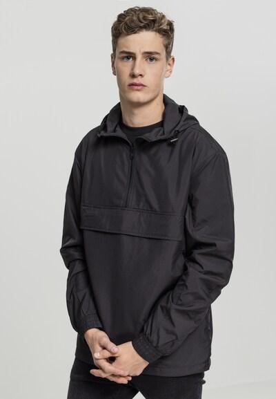 Urban Classics Übergangsjacke 'Basic Pullover' in schwarz: Frontalansicht