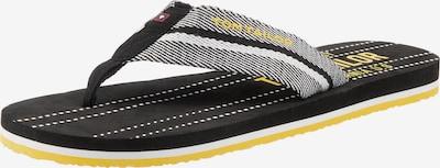 TOM TAILOR Žabky - žlté / čierna / biela, Produkt