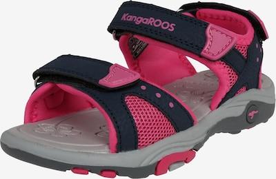 KangaROOS Sandale 'Belle' in grau / pink / schwarz, Produktansicht
