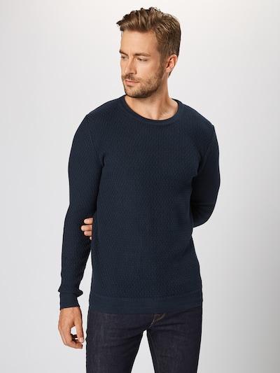 Pulover 'SLHOLIVER CREW NECK W NOOS' SELECTED HOMME pe albastru închis, Vizualizare model