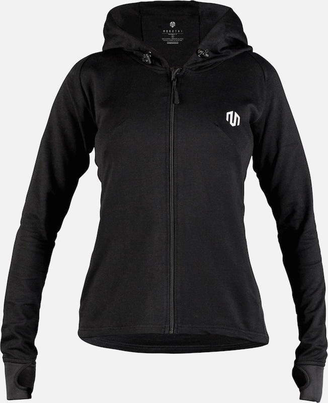MOROTAI Sport-Sweatjacke 'Comfy Performance Full Zip' in schwarz, Produktansicht