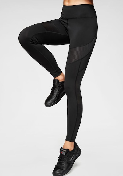 REEBOK Workout Ready Sports Leggings in schwarz: Frontalansicht