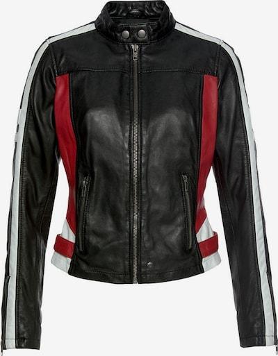 KangaROOS Lederjacke in rot / schwarz / weiß: Frontalansicht