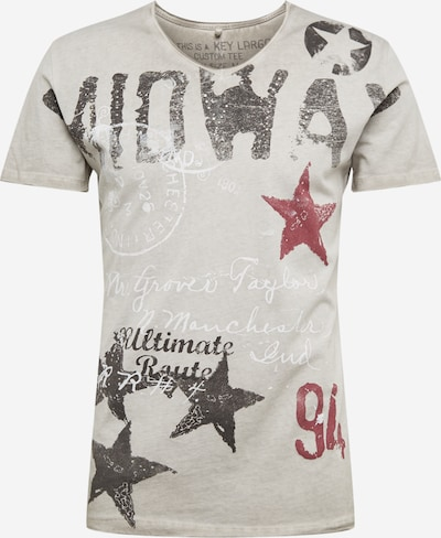 Key Largo Shirt in silbergrau, Produktansicht