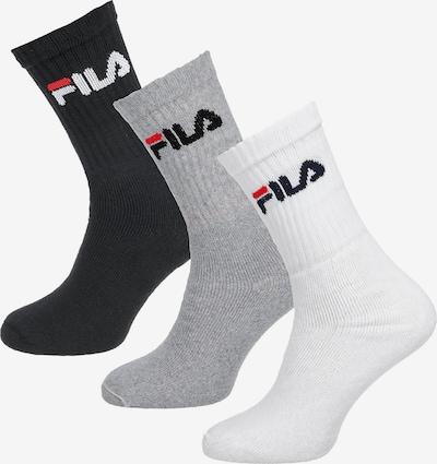 FILA Socken (3 Paar) in grau / schwarz / weiß, Produktansicht
