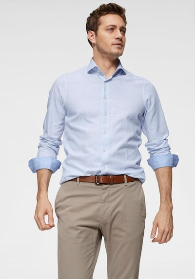 ROY ROBSON Langarmhemd in blau: Frontalansicht