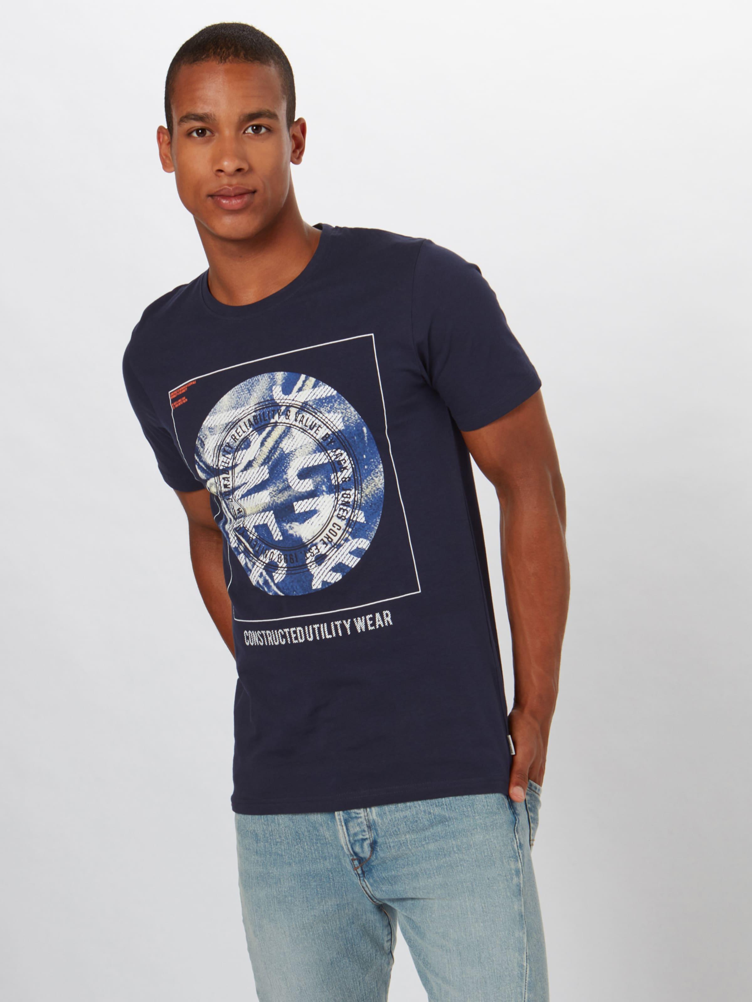 Jones In DunkelblauOrange Jackamp; Weiß Shirt 'jordan' BodeCx