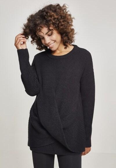 Pulover 'Ladies Wrapped Sweater' Urban Classics Curvy pe negru: Privire frontală
