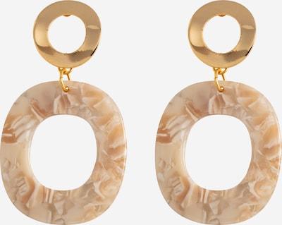 Fräulein Wunder Ohrringe 'Aiwa' in creme / gold, Produktansicht