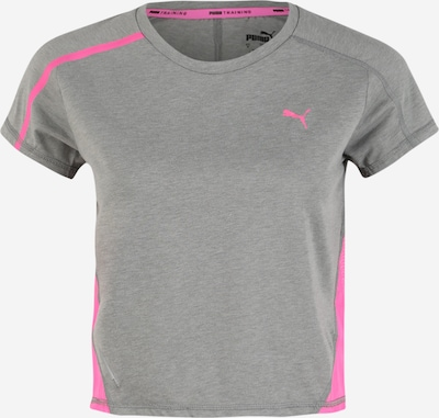 PUMA T-Shirt 'Train Panel' in grau / neonpink, Produktansicht