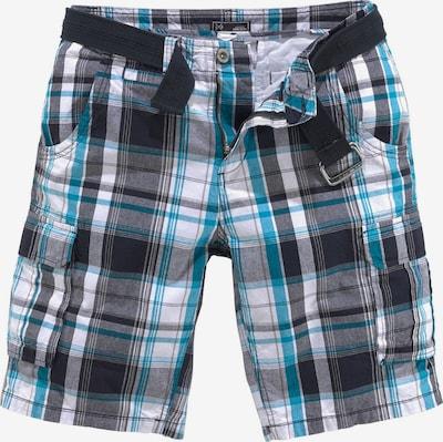 JOHN DEVIN Shorts in blau / schwarz, Produktansicht