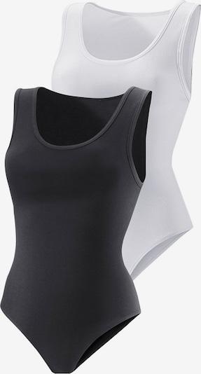 VIVANCE Achselshirt-Body (2 Stück) in schwarz / weiß: Frontalansicht
