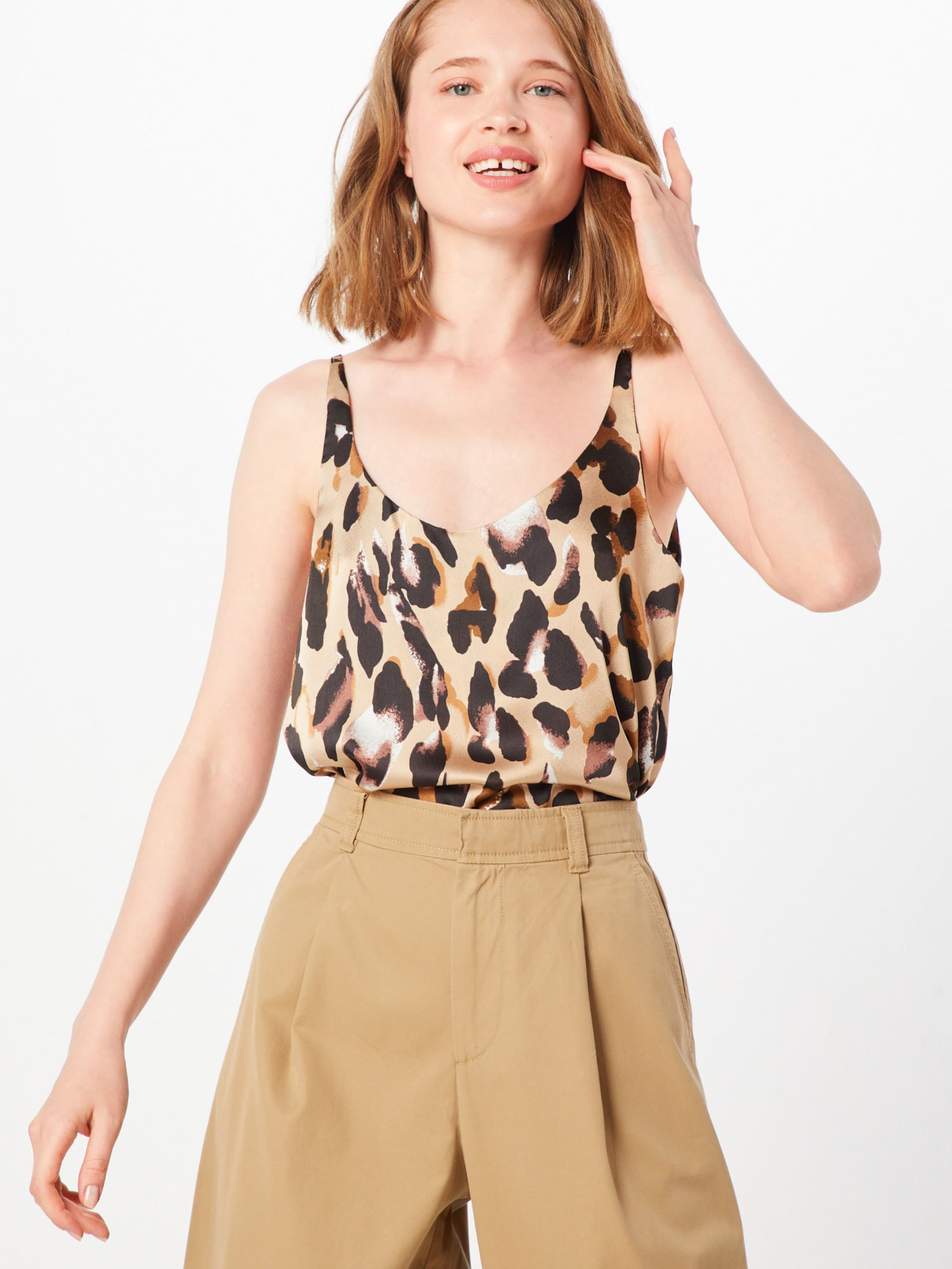 En Cami' Haut 'leopard Boohoo BeigeNoir dQrWCexBEo
