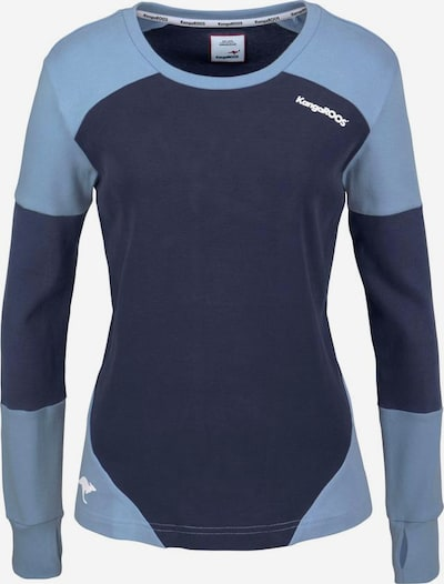 KangaROOS Sweatshirt in marine / hellblau, Produktansicht