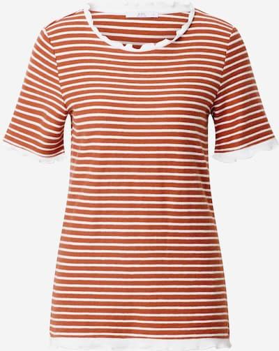 EDC BY ESPRIT Shirt in orangerot / naturweiß, Produktansicht