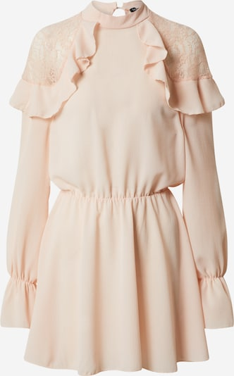 Boohoo Kleid 'LACE SHOULDER RUFFLE DETAIL SKATER DRESS' in pink, Produktansicht