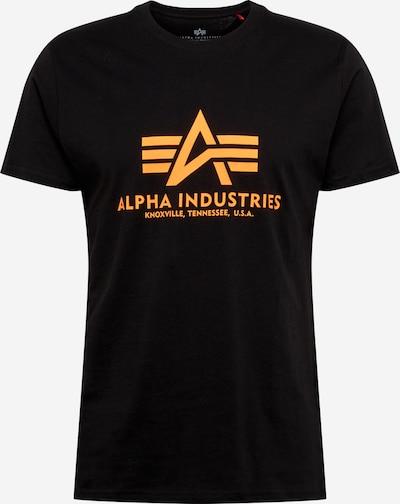 ALPHA INDUSTRIES Shirt in neonorange / schwarz, Produktansicht