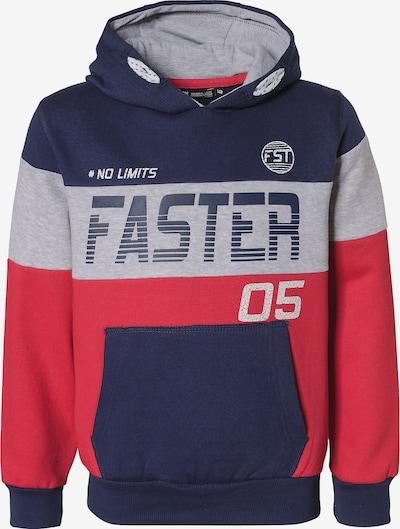 LEMON BERET Sweatshirt in dunkelblau / graumeliert / pastellrot, Produktansicht