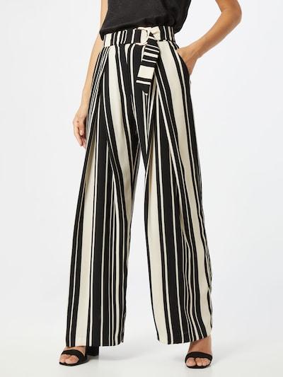 Pantaloni cutați River Island pe negru / alb, Vizualizare model