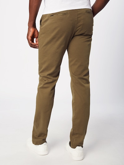 KnowledgeCotton Apparel Pantalon chino en olive: Vue de dos