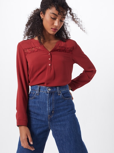 ABOUT YOU Blouse 'Line' in de kleur Rood, Modelweergave