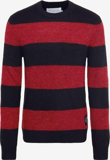 Calvin Klein Jeans Sweter 'BOLD STRIPE COTTON CN' w kolorze czerwony / czarnym, Podgląd produktu