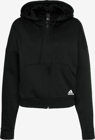 ADIDAS PERFORMANCE Sweatshirt »W BOS AOP FZ HD« in schwarz / weiß, Produktansicht