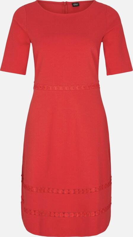 S.Oliver schwarz LABEL LABEL LABEL Stretchkleid in feuerrot  Markenkleidung für Männer und Frauen 277e89