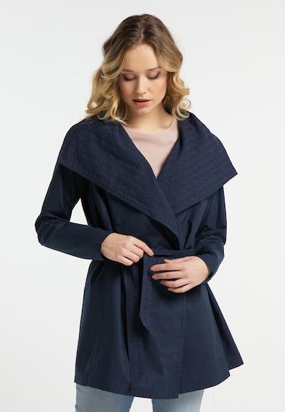 DREIMASTER Kurzmantel in dunkelblau, Modelansicht