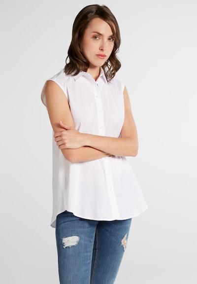 ETERNA ohne Arm Bluse MODERN CLASSIC in weiß, Modelansicht